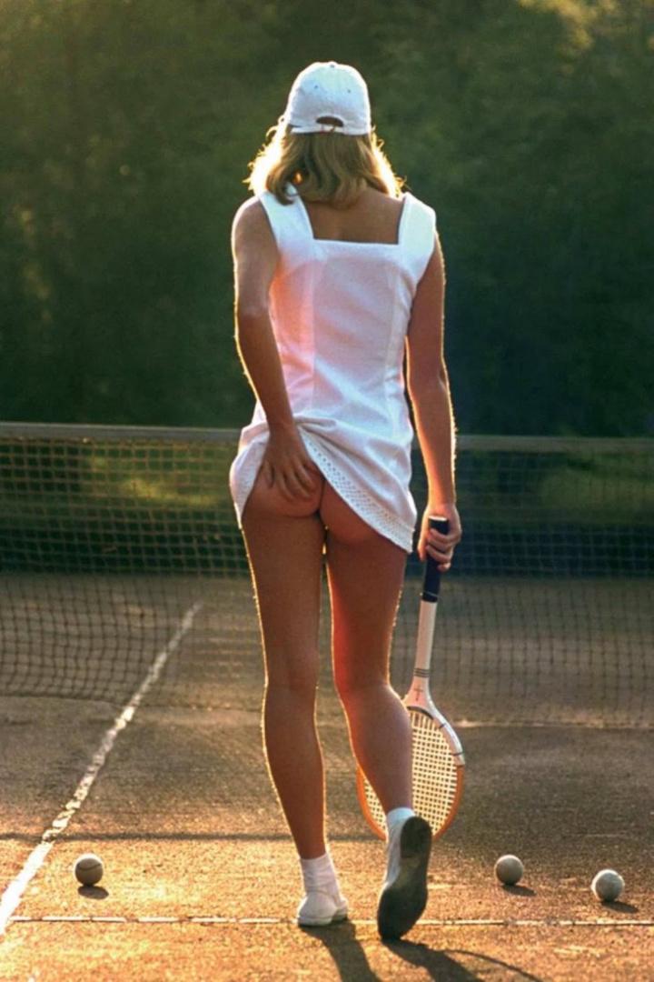 История одной фотографии «Теннисистка»
