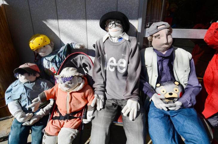 Японская деревня, где кукол больше, чем людей