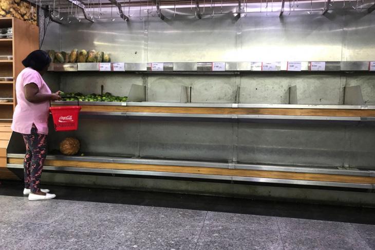 Кризис и пустые полки в супермаркетах Венесуэлы