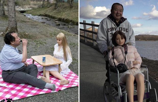 Отец двоих детей из Японии, стал жить с силиконовой куклой