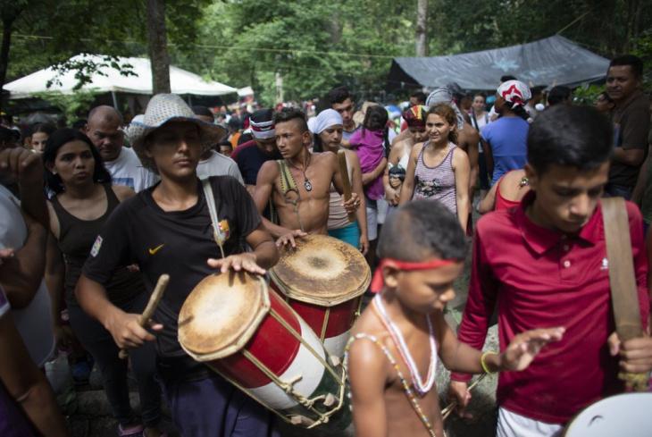 Венесуэльцы просят сил и исцеления у мифической богини