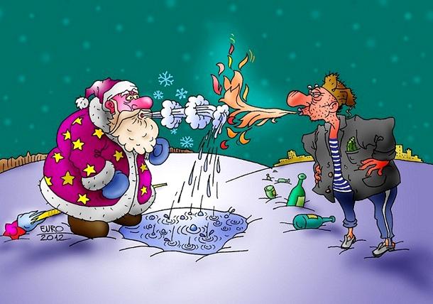 Новогодние картинки, шутки и приколы