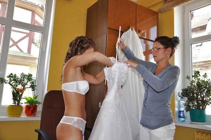 Пикантные фото невест, готовящихся к свадьбе