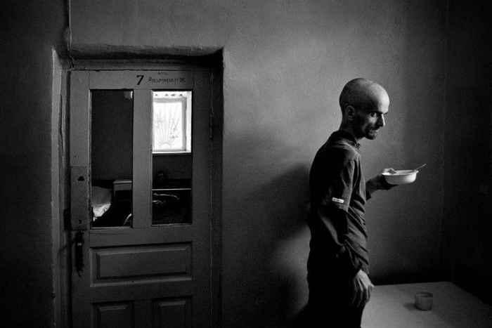 Черно-белые фотографии Степана Рудик, из психиатрической больницы