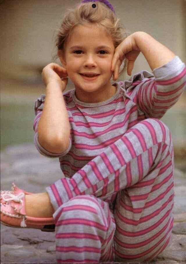 Дрю Бэрримор — редкие, детские фотографии актрисы
