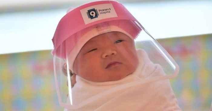 Пластиковые маски для новорожденных Таиланда