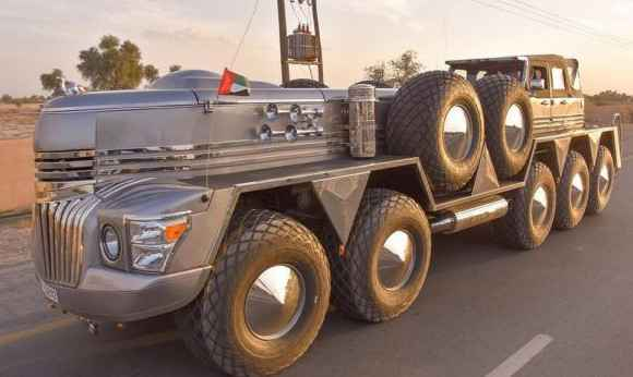 Десятиколесный автомобиль для шейха из Дубай