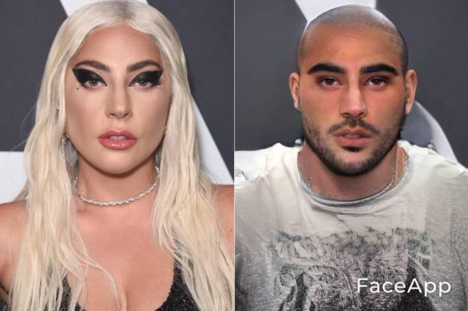Знаменитые дамы в мужском образе, при помощи FaceApp