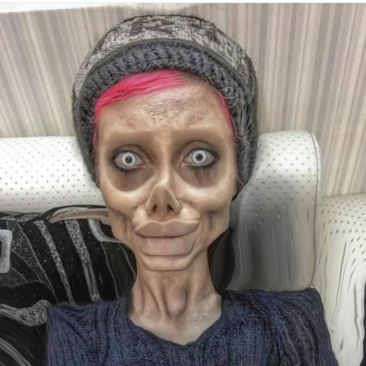 Сахар Табар - фейковая Анджелина Джоли, арестована за «богохульство»