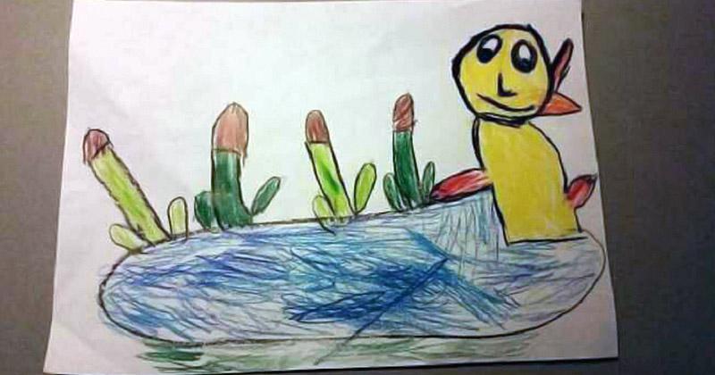 Подборка забавных детских рисунков
