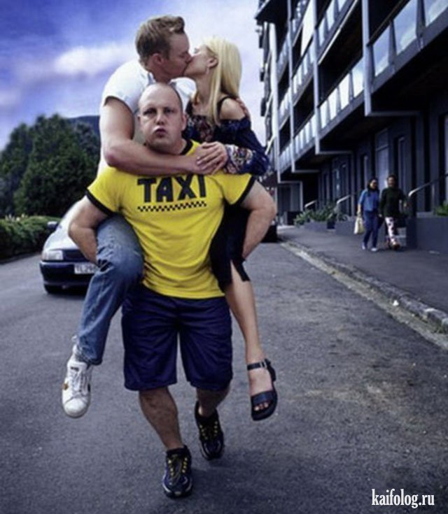 Подборка фото приколов про таксистов