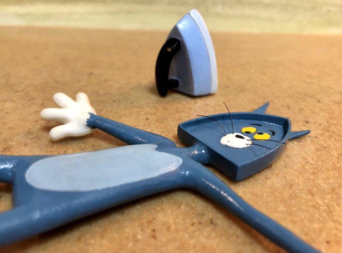 Подборка необычных скульптур, идеи для которых взяты из мультфильма «Том и Джерри»