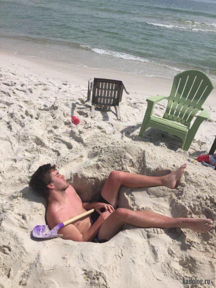 Чудики на пляже