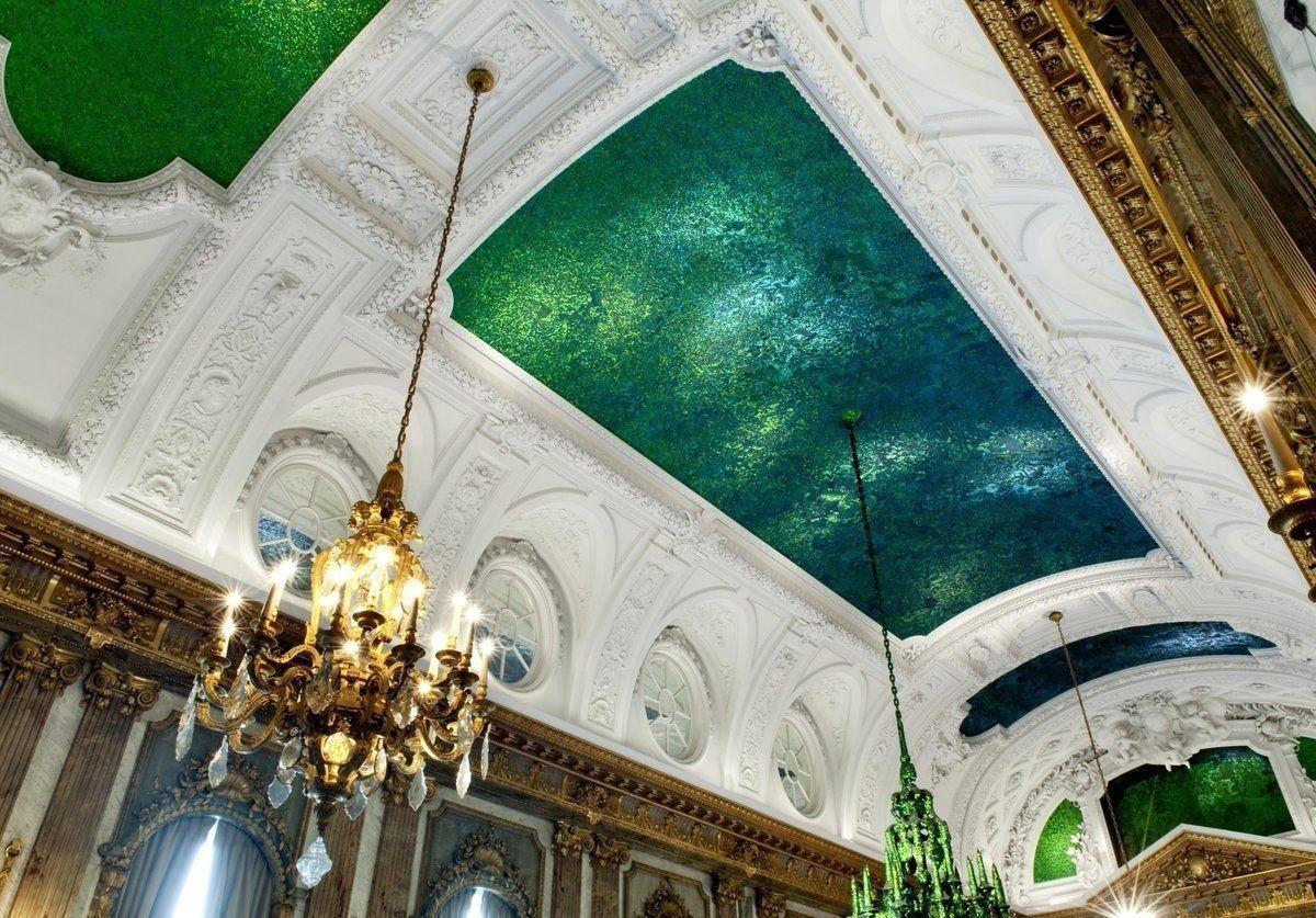 Оригинальный потолок в Королевском дворце Брюсселя