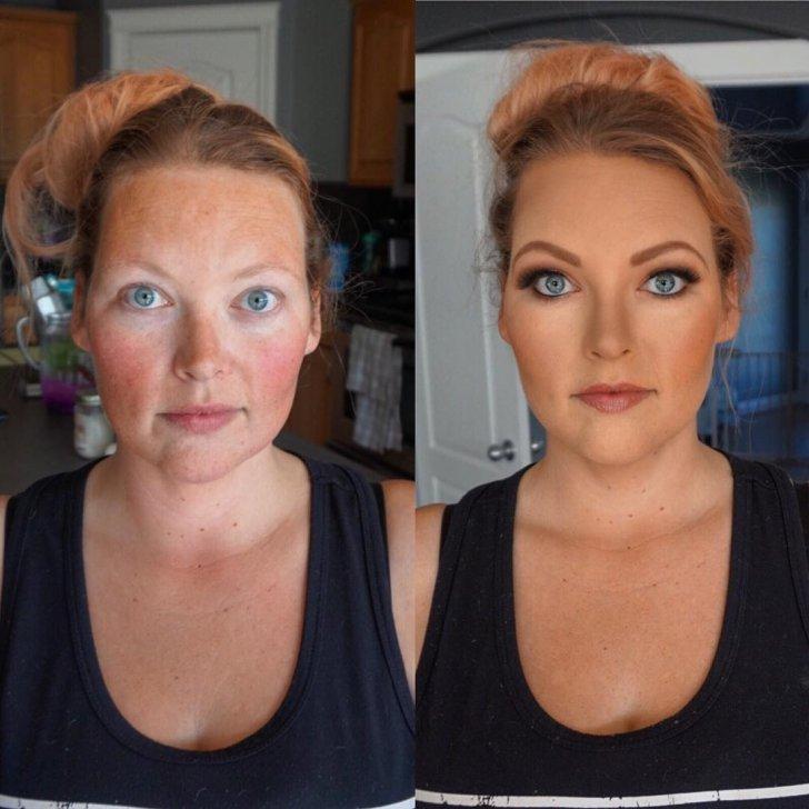 Когда не узнал свою девушку: подборка фотографий девушек с макияжем и без