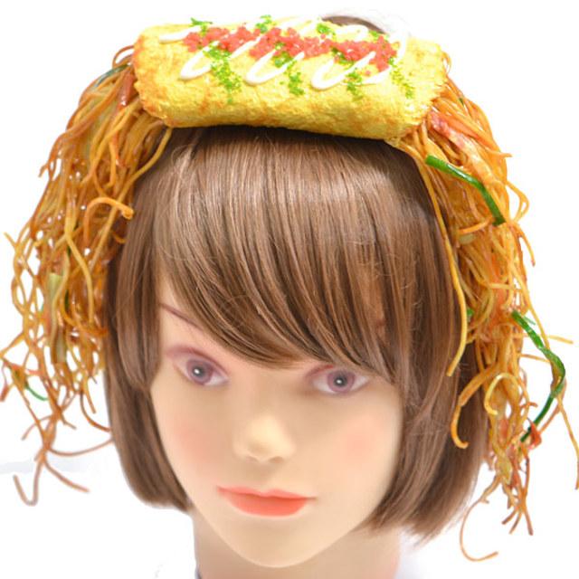 У вас еда на голове