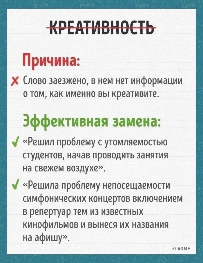 Полезная информация для резюме