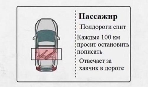 Bодитель, пассажир и штурман
