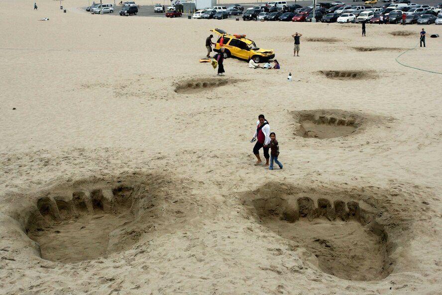 Веселые моменты на пляже