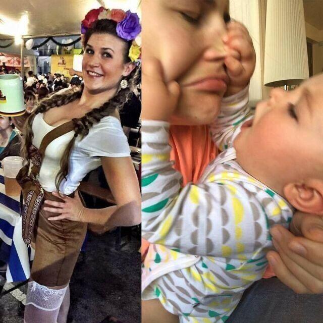 До и после рождения ребенка