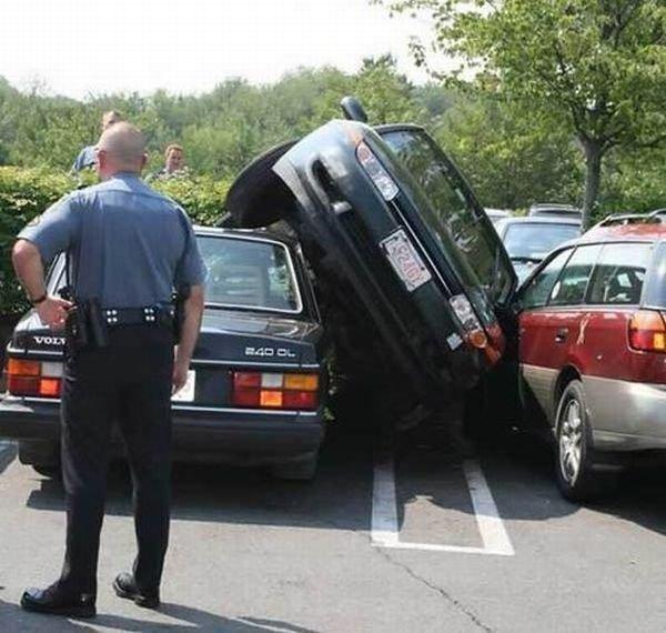 Аварии тоже бывают нелепыми