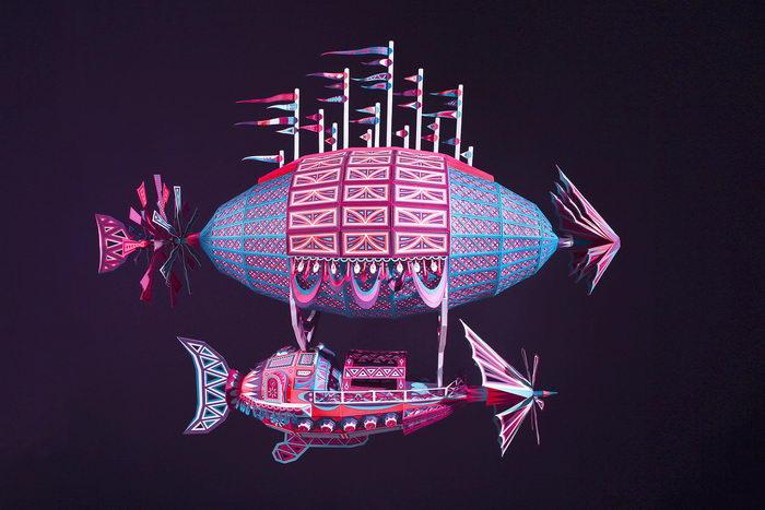 Невероятные корабли из картона, собранные вручную
