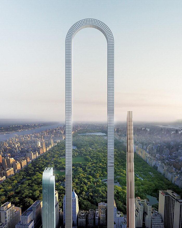 Небоскреб по новой технологии на Манхэттене