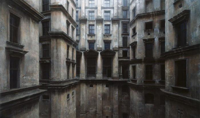 Немецкий художник придумал красивый и мрачный город, нарисовав его многочисленные улочки