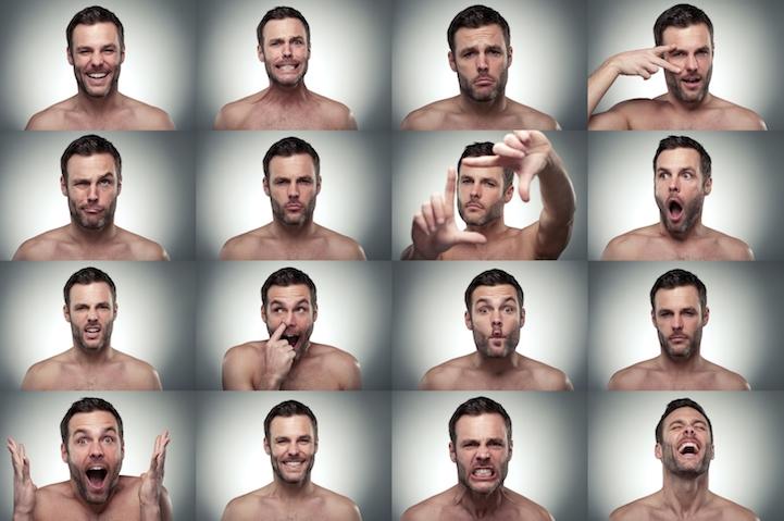 Разные эмоции одного человека