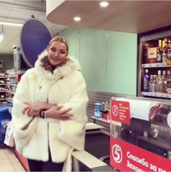 Волочкова парализовала работу супермаркета