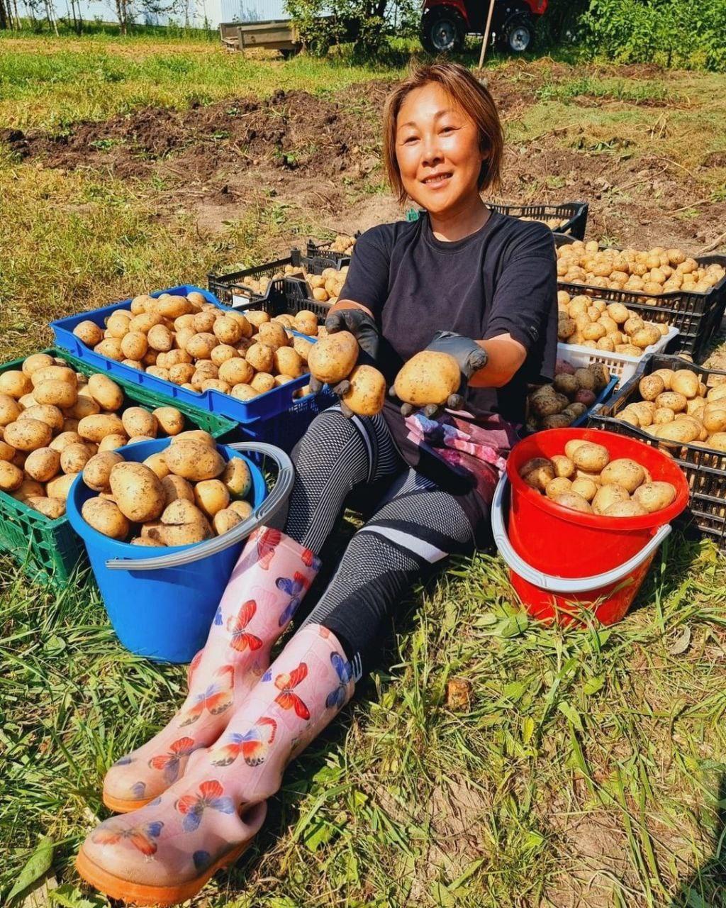 Анита Цой, 50-летняя певица показала, какой урожай собрала в этом году со своего приусадебного участка