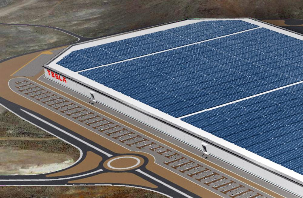 Tesla Gigafactory будет самым большим зданием в мире с нулевым потреблением энергии