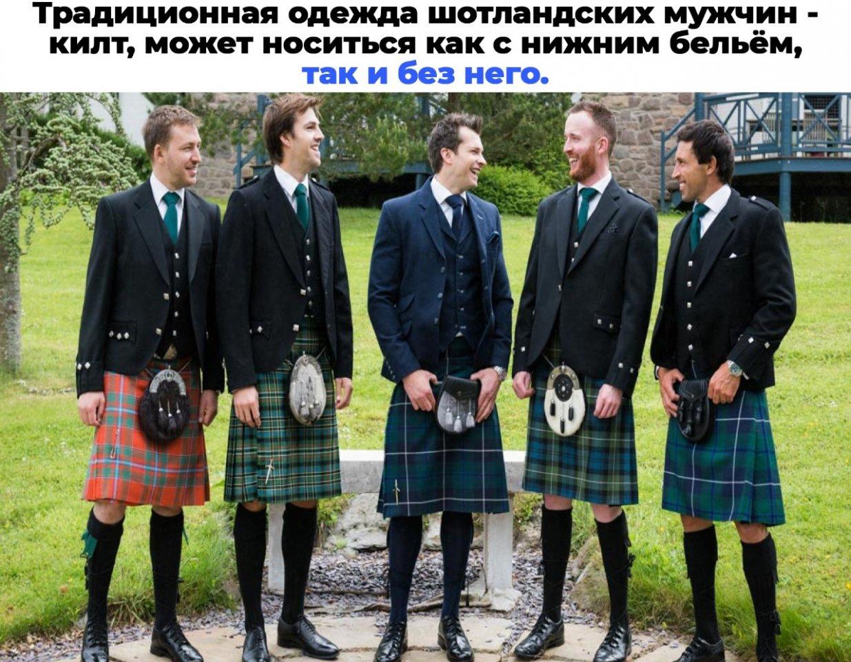 Почему шотландцы не носят трусы