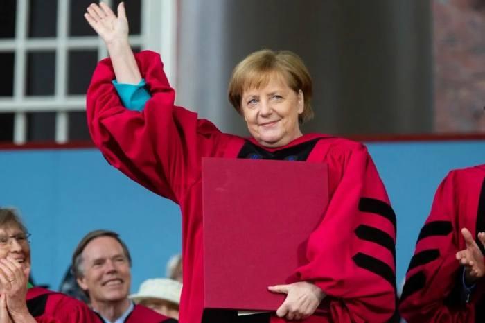 Ангела Меркель в университете