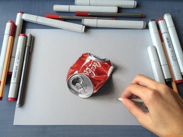Только посмотрите как этот парень рисует